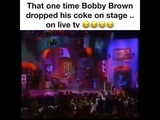 Flashback! Bobby Brown Drops His Coke on Live Television