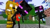 Monster School Enderman Dies SFM Two Evil Eyes End - Minecraft Animation