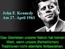 WARNUNG John F Kennedy und Dwight D Eisenhower