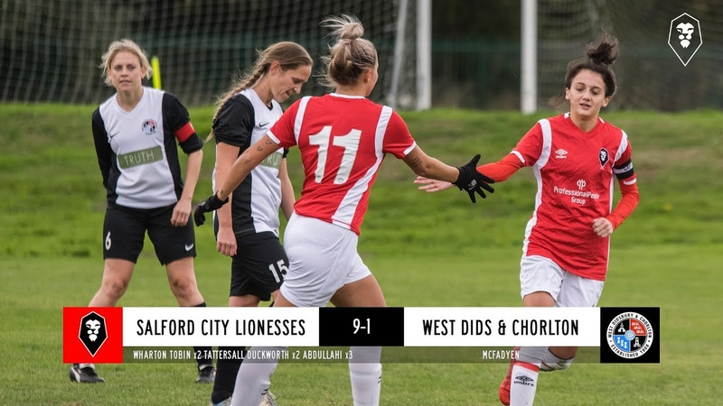 Salford City Lionesses 9-1 West Didsbury Chorlton Women - GMWFL League Challenge Cup