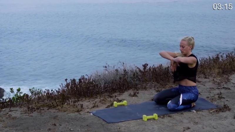 Йога для пресса и корсетных мышц - Тренировка йога против жира на животе.