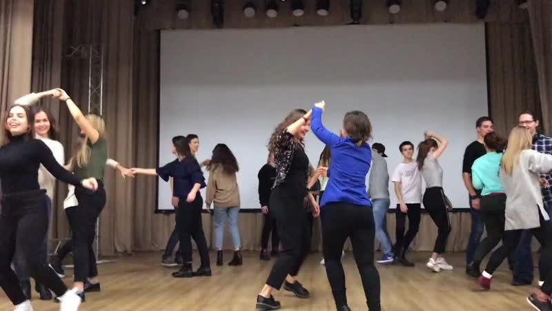 Mini-MK Lindy hop TGU 2018 Школа тьюторов