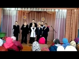 Учащиеся Абдинской школы с песней о бабушке на поазднике дня пожилых. Абдинский СДК