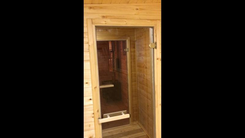 Обзор баня 8 метров. Вход с фасада с увеличенной комнатой отдыха. » Freewka.com - Смотреть онлайн в хорощем качестве