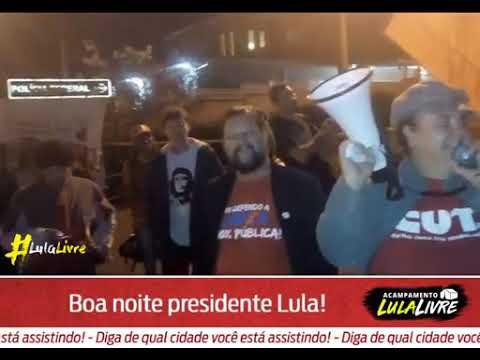 Guerreiros mandam um boa noite companheiro Lula e dizem só saímos com Lula.