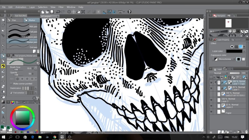 How To Draw - Anchor Skull vintage style drawing