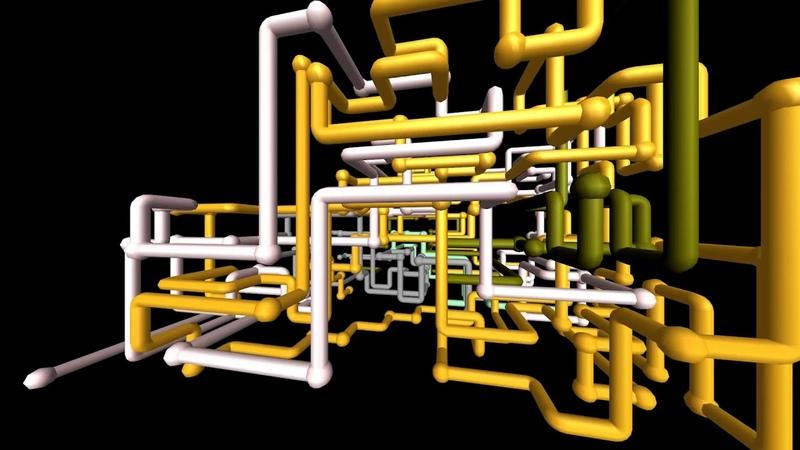3D pipes screensaver - живые обои на пк