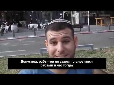 ЖЕСТЬ! В Израиле опрос евреев-хабадников ... Гои должны быть рабами евреев ?