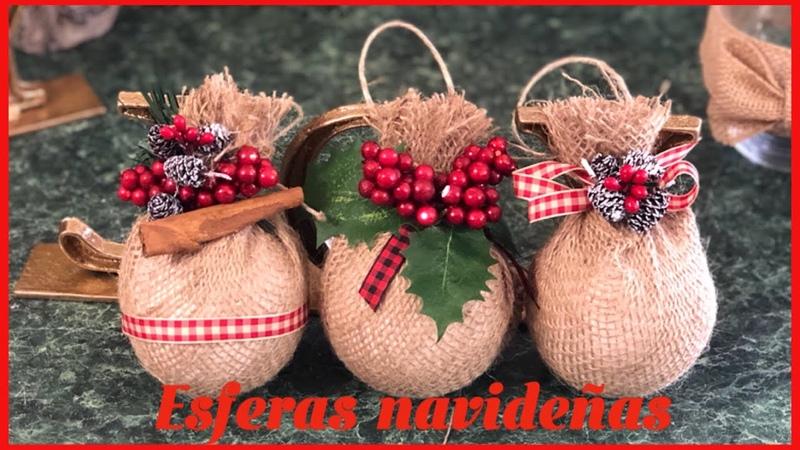 DIYCómo hacer esferas navideñas 🎄