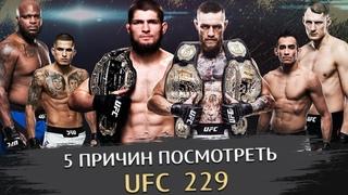 5 причин посмотреть UFC 229 | Конор МакГрегор, Хабиб Нурмагомедов, Фергюсон, Петтис, Волков, О'Мэлли