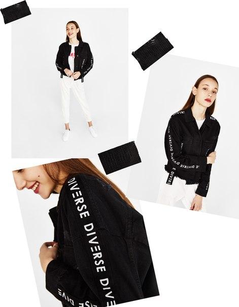 Куртка-рубашка с лентами с боковых сторон