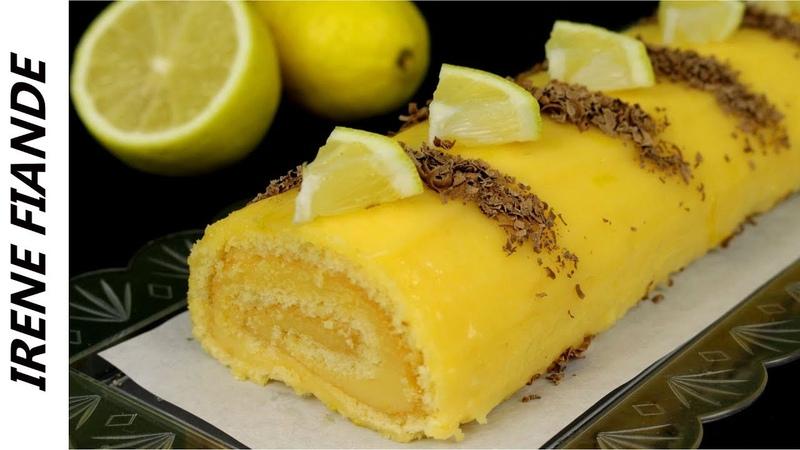 Для всех любителей кисленького!!Бисквитный рулет с лимонным кремом