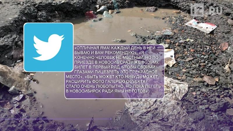 Дорожная яма в Новосибирске стала «достопримечательностью» Google Maps