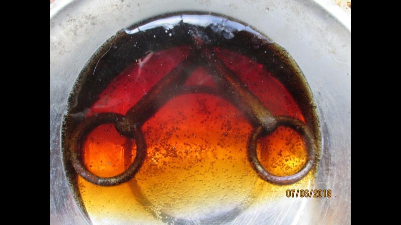 Отмачиваем ржавый трензель в Кока Коле. Результат