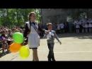 Анастасия Лихошерстова и Толя Петрусь. Последний звонок. Школа №4. г. Онега, 26 мая