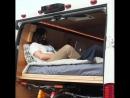 Самодельная кровать-диван в кемпер