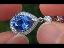 GIA Certified 4.54 ct Natural Blue Sapphire Diamond Necklace 18k White Gold - A131548