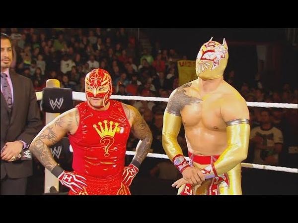 WWE Rey Mysterio Sin Cara Vs. Cesaro Jack Swagger - Raw January 27, 2014 [Full Match] HD