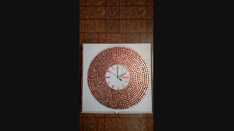 Оригинальные Настенные Часы Медное Солнце, белый циферблат