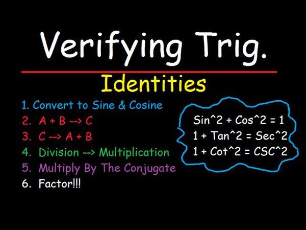 Verifying Trigonometric Identities - How To Do It The Easy Way!