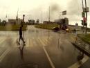 На работу в дождливый день.Тест камеры.
