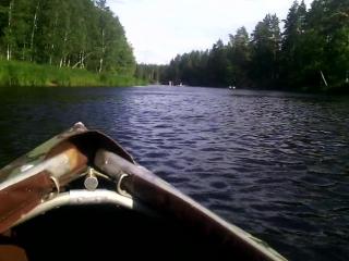Сплав на байдарках. Река Пра.