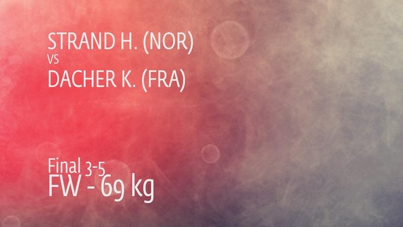 BRONZE FW - 69 kg K. DACHER (FRA) df. H. STRAND (NOR) by FALL, 7-0