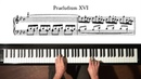 Bach Prelude and Fugue No 16 Well Tempered Clavier Book 1 with Harmonic Pedal