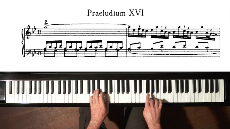 Bach Prelude and Fugue No.16 Well Tempered Clavier, Book 1 with Harmonic Pedal