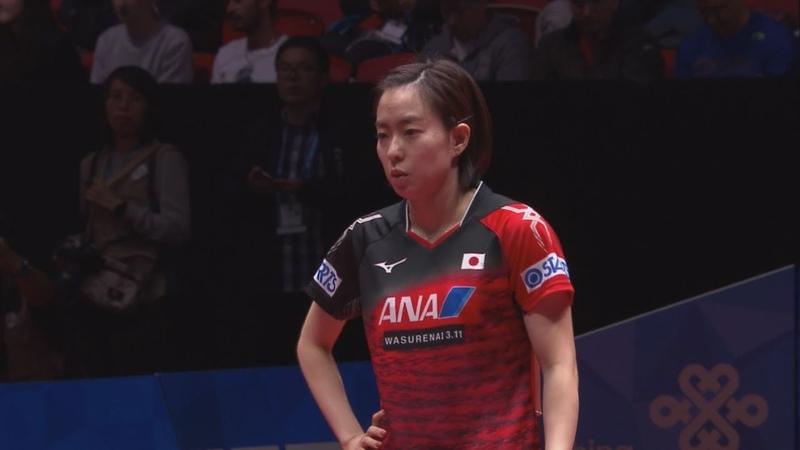 世界卓球2018 女子決勝トーナメント準々決勝 日本vsウクライナ 第2試合 石川20