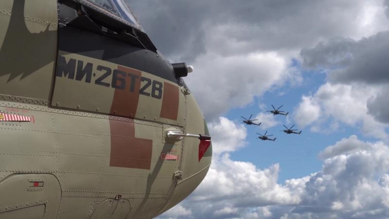 Видеоиллюстрация Ми-26Т2В и Ми-28Н Ночной охотник на МВТФ Армия-2018