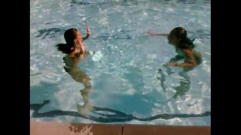 Madison and Chelsea competing in a pool contest that leads to catfight