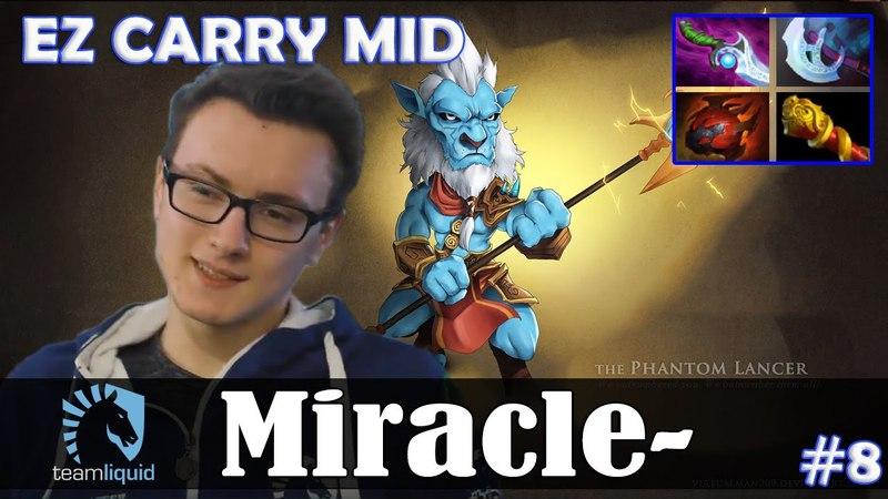 Miracle - Phantom Lancer MID | EZ CARRY | Dota 2 Pro MMR Gameplay 8