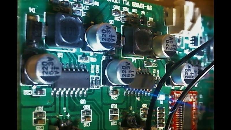 190 watt speaker powered by 66 watt amplifier board. Bass test