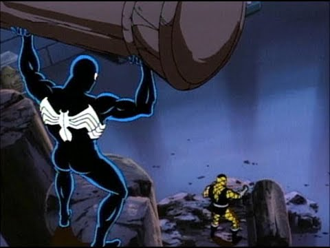 Человек Паук в Чёрном костюме против Шоккера Мультсериал 1994