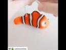 Очень простой мастер-класс: рыбка из мультфильма в поисках немо