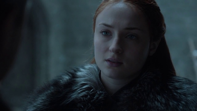 Game of Thrones 7x03 Sansa Stark and Bran Stark Reunion