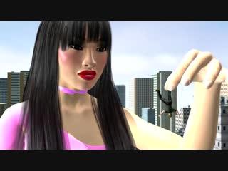 Asian giantess crush very
