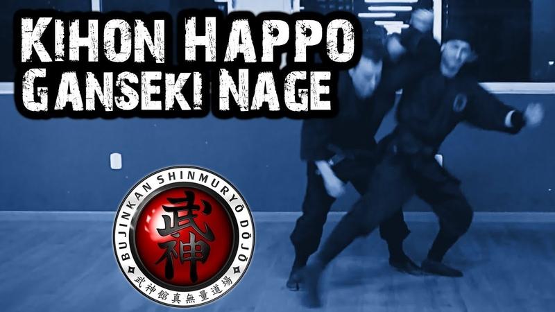 Ninjutsu | Kihon Happō (Hoshu Kihon Go Hō No Kata) - Ganseki Nage (Gyokko Ryû)