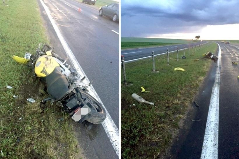 Трагическая мото авария на трассе M-5 Минкс - Гомель
