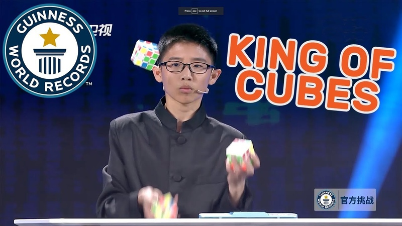 Fastest time to solve 3 Rubik's Cubes while juggling As Seen On TV China