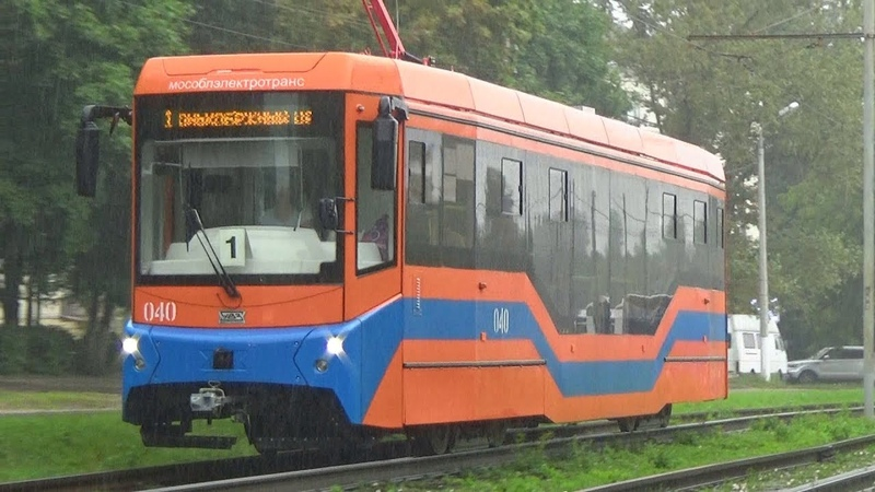 Трамвай 71-407.01 УВЗ №040 с маршрутом №01 Голутвин - Конькобежный Центр