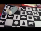 КОВЕР ДОМАНА-- Обзор коврика всей семьёй-) Активная Симкина жизнь на полу! Растяжка Валерии-)