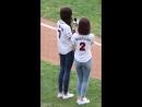 181006 Wonyoung Sakura at Doosan Bears and LG Twin's baseball match [fancam]