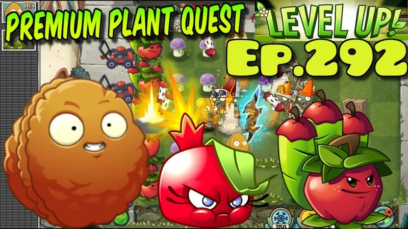 Plants vs. Zombies 2 - Quest Plants Level Up - Explode-o-Nut, Bombegranate, Apple Mortar (Ep.292)
