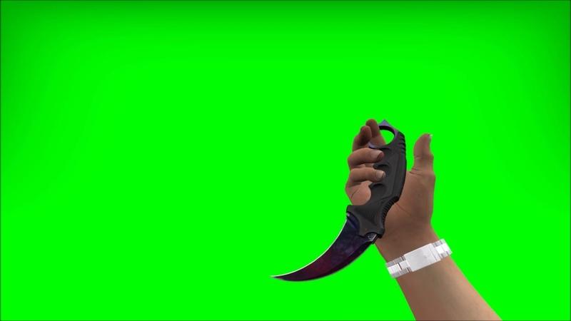 Karambit doppler Phase 1 60 FPS Greenscreen