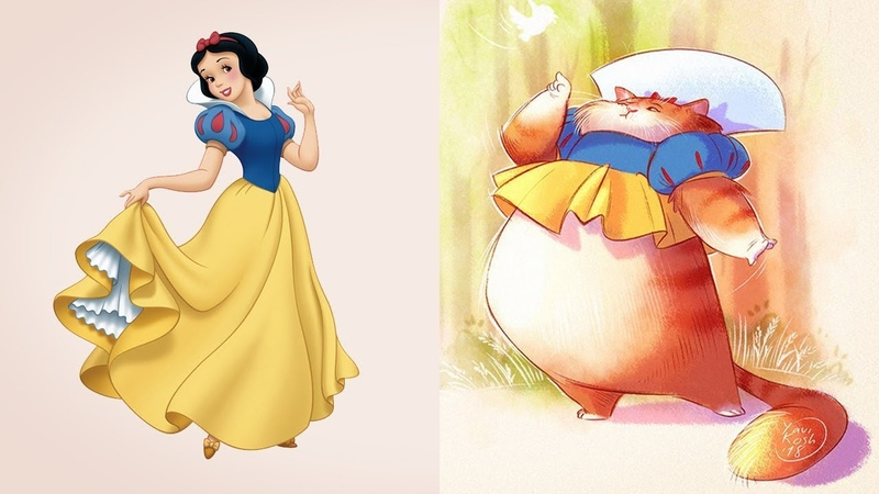 ЧТО ЕСЛИ принцессы Дисней были бы кошками