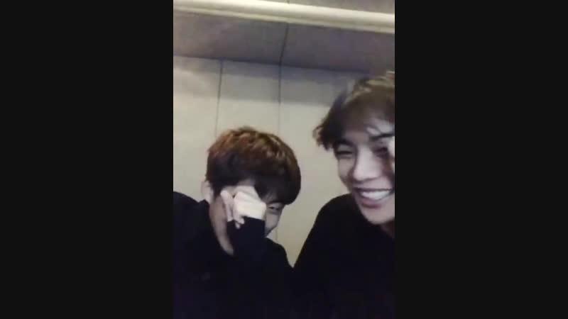 The way hanbin and jaewon laughed omg so damn cute