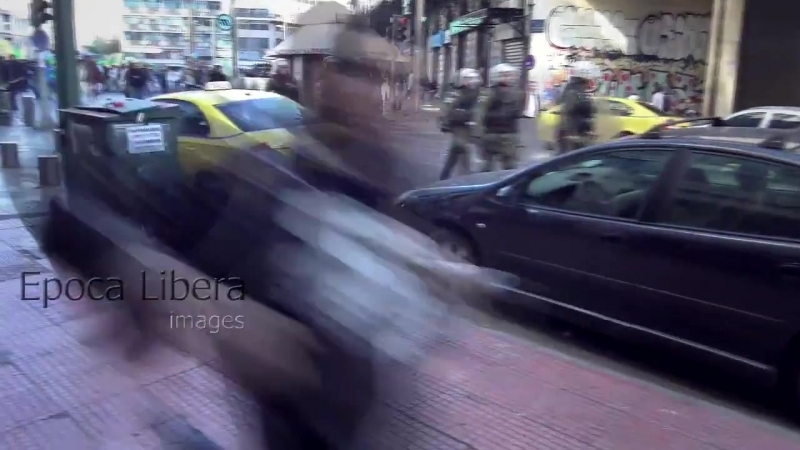 Greece 26.11.2017 PAOK hooligans clashed with Pakistanis