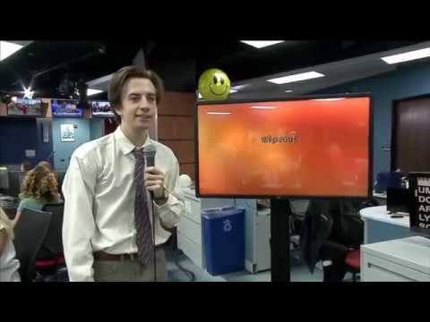 So Awkward Guy Walks Into A Newsroom To Sing 'Wipeout'